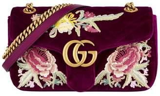 Gucci Small Velvet Marmont Matelassé Shoulder Bag