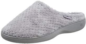 802b6670728c50 Isotoner Women s s Ladies Popcorn Mule Slippers Low-Top (Pale Grey)