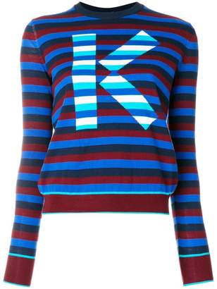 Kenzo logo striped sweater