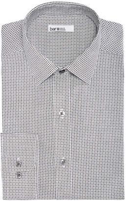 Bar III Men Reg-Fit Stretch Easy-Care Square Dobby Dress Shirt
