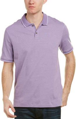 Ike Behar Ike By Marled Pinstripe Polo Shirt