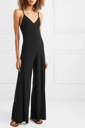 Norma Kamali Stretch-jersey Jumpsuit - Black