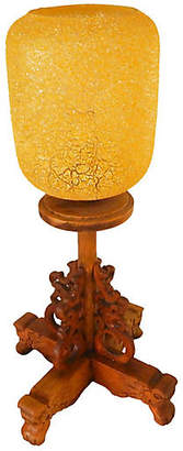 One Kings Lane Vintage Chinese Wood & Glass Table Lamp