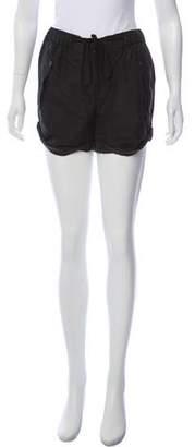 Edun Mid-Rise Silk Shorts
