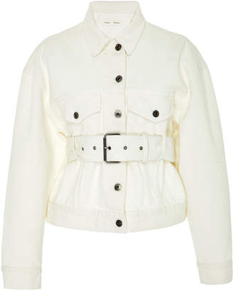 Proenza Schouler PSWL Belted Denim Flap Pocket Jacket