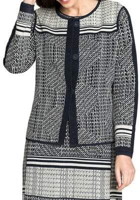 Nic+Zoe Printed Button Front Jacket