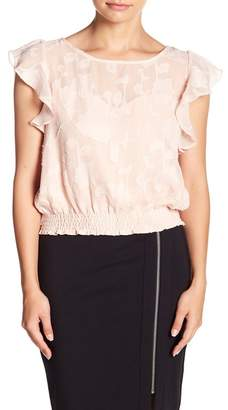 Cupcakes And Cashmere Banyan Ruffled Cap Sleeve Blouse