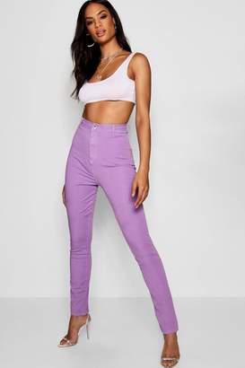 boohoo Tall Keeley Lilac Skinny Jeans