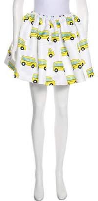 Au Jour Le Jour Print Mini Skirt