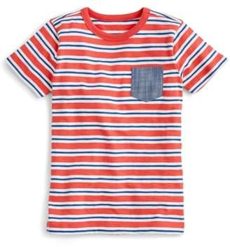 J.Crew crewcuts by Stripe Chambray Pocket T-Shirt
