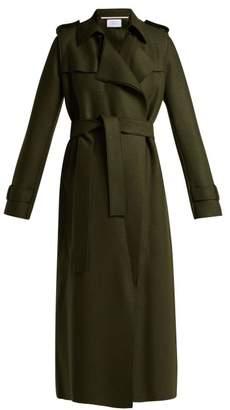 Harris Wharf London - Layered Wool Trench Coat - Womens - Dark Green