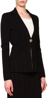 Giorgio Armani Ottoman Seamed One-Button Jacket $4,525 thestylecure.com