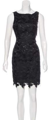 Tahari Guipure Lace Mini Dress