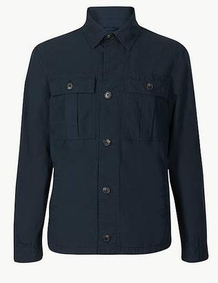 Marks and Spencer Pure Cotton Shirt Jacket