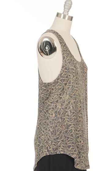 IRO Snake Print Linen Tank