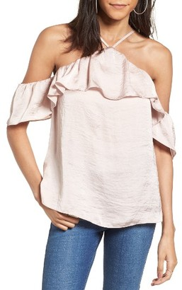 Women's Ten Sixty Sherman Satin Cold Shoulder Top $39 thestylecure.com