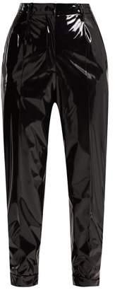 No.21 No. 21 - Slim Leg Vinyl Trousers - Womens - Black