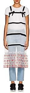 Comme des Garcons Women's Appliquéd Organza Dress - White