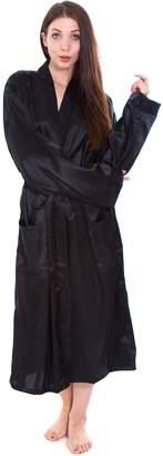 Simplicity Bath Cozy Home Silk-Like Elegant Bathrobe Sleepwear