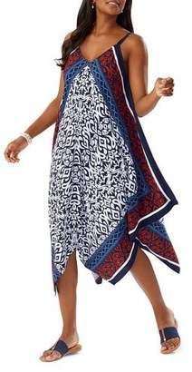 Tommy Bahama Ikat Engineered Coverup Scarf Dress