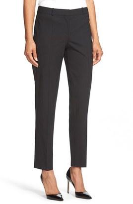 Women's Boss 'Tiluna' Stretch Wool Slim Leg Ankle Trousers $255 thestylecure.com