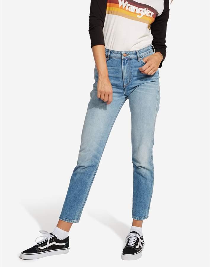 Rétro - Jeans mit Slimcut - jeansblau