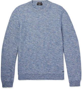 HUGO BOSS Textured-Knit Melange Cotton Sweater