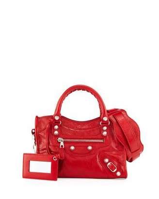 Balenciaga Giant 12 Golden City Mini Bag, Red $1,395 thestylecure.com
