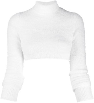 Versace cropped knit sweater