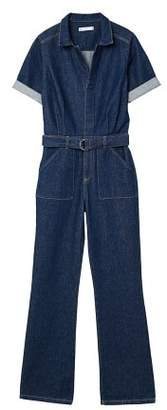 MANGO Belt denim jumpsuit