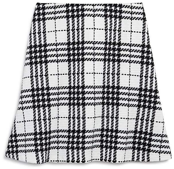 AQUA Girls' Textured Plaid Skirt, Big Kid - 100% Exclusive
