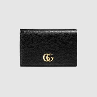 Gucci (グッチ) - 〔プチ マーモント〕レザー カードケース