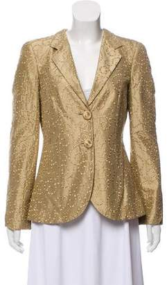 Giorgio Armani Embroidered Silk Blazer