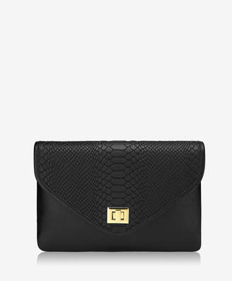 GiGi New York Georgia Clutch Embossed Python