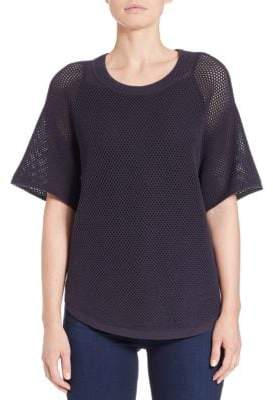 Lord & Taylor Mesh-Sleeved Sweater
