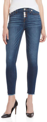 True Religion High-Waisted Button Fly Skinny Jeans