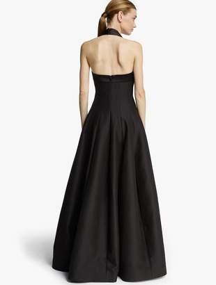 Halston Halter Silk Faille Gown