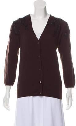 Prada Embellished Button-Up Cardigan