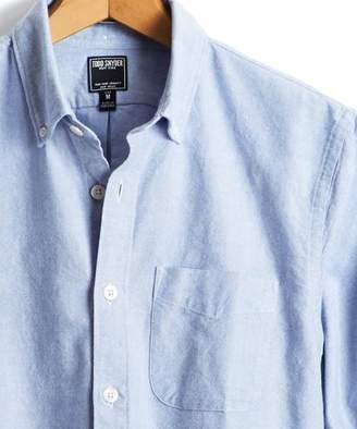Todd Snyder Japanese Selvedge Oxford Button Down Shirt in Blue