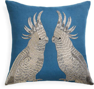 Jonathan Adler Zoology Parrots Throw Pillow