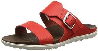 Merrell Women's Around Town Buckle Slide Print Heels Sandals,36 EU