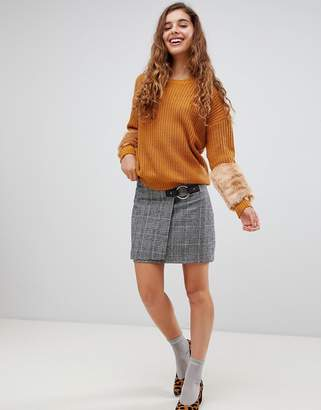 Paige Willow and Willow & tweed mini skirt with buckle detail