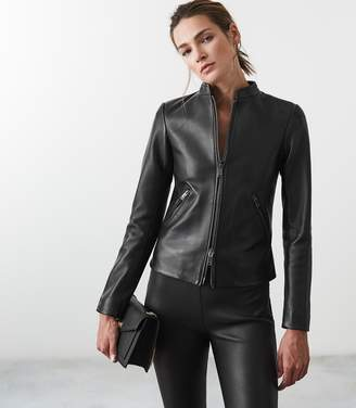 Reiss Aries Leather Jacket