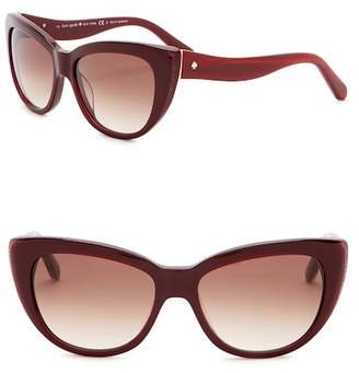 Kate Spade Emales 53mm Cat Eye Sunglasses