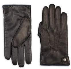 Saks Fifth Avenue COLLECTION Touch Tech Leather & Cashmere Gloves