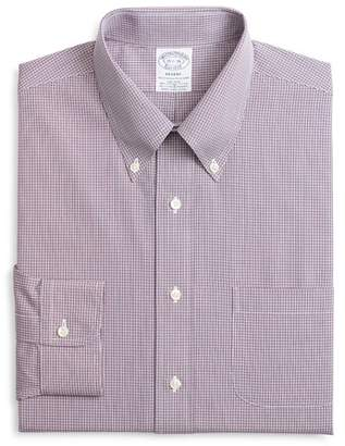 Brooks Brothers Micro-Checked Classic Fit Dress Shirt