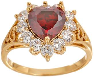 Grace Kelly Collection Simulated Diamond & Ruby Heart Ring