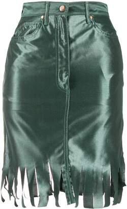 Jean Paul Gaultier Pre-Owned 1991 frayed trim skirt