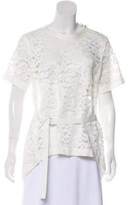 Sacai Lace Short Sleeve Top w/ Tags