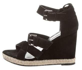 Balenciaga Suede Buckle Wedges